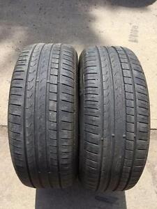 2 Pirelli Cinturro P7 - 245/50/18 - 60% - $50 For Both