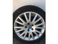 Alloy Wheel and Tyre of Audi