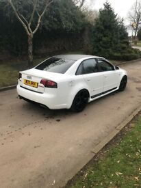 Audi A4 rs4 replica ice white