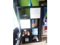 Versatile wall unit black/brown from Ikea