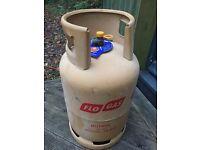 Gas bottle; Large Flo Butane Cylinder, full, 13kg, unused, near Axminster