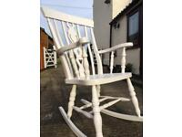 Vintage Style Shabby Chic Rocking Chair
