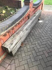 2 solid oak beams