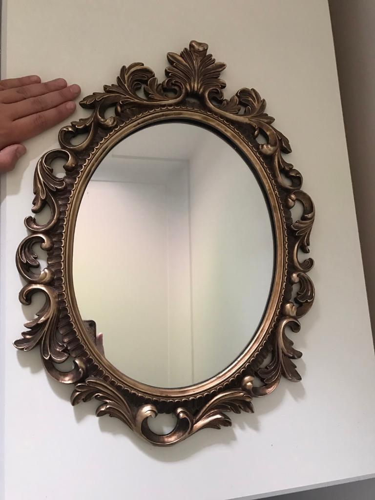Gold Bronze Baroque Rococo Style Vintage Ornate Mirror Home Sense Tk Ma