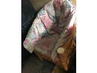 Free Set of wicker chairs two seater and two armchairs