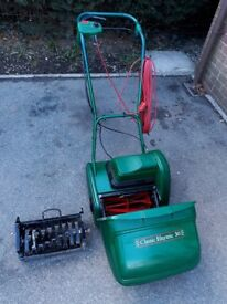 Lawn mower Qualcast electric cylinder mower with scarafier