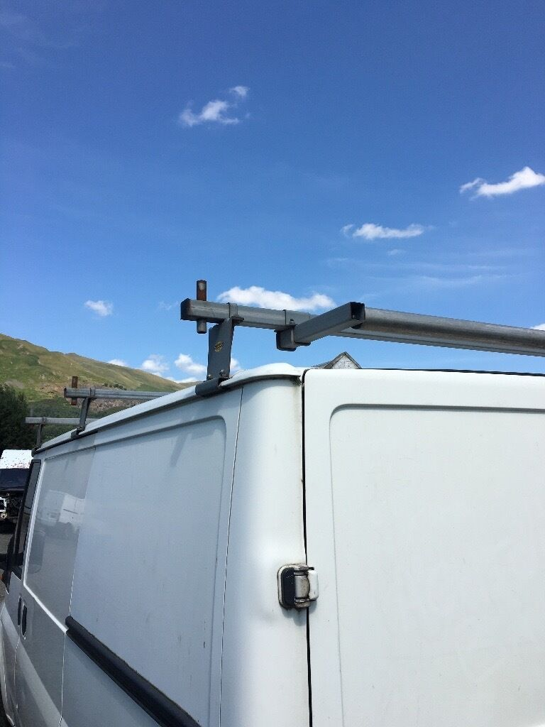 Ford transit galvanised roof rack With rear roller