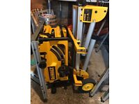 BRAND NEW dewalt dw745LX with foldable roller stand