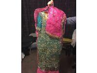 green mendhi dress
