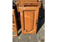 Selling brown wood kitchen cabinet doors with handles