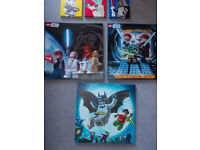 Lego wall canvas pictures. Lego Star Wars and Lego Batman. Great for kids bedroom.