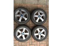 "Quality 15"" winter alloys wheels and tyres for Yaris / Mazda 2 - nearly new"