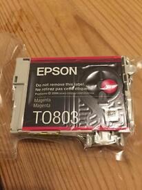 Epson TO803 ink cartridge magenta