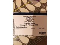 4 Erasure standing tickets Friday 23rd eventium Apollo Hammersmith