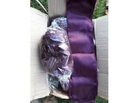 125 plum satin wedding chair sashes