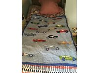boys bedroom wool car rug and quilt