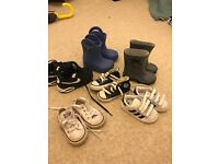 Selection of boys trainers/ wellies