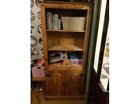 Distressed Oak Solid wood bookshelf