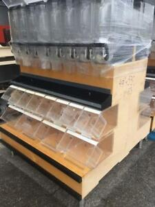 Double Sided Bulk Food Display Stand