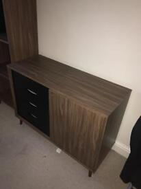 Shelves and side board six months old were £175