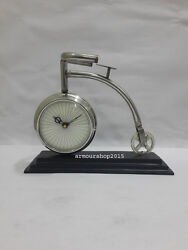 Nautical Style Table Top Desk Chrome Clock  Collectible Watch Chritsmas Gift