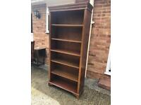 Tall bookcase solid wood shelving adjustable shelves Can deliver.