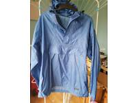 PETER STORM BLUE OVERHEAD WATERPROOF JACKET SIZE SMALL VGC
