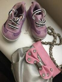 Baby girl shoes and bag