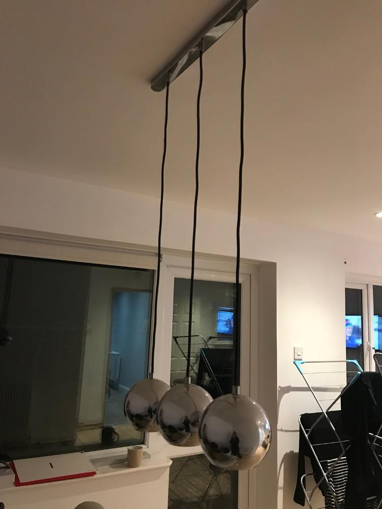 Chrome Hanging Lights Bought From B And Q In Whitchurch Bristol Gumtree