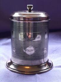 "Vintage Copper & Brass ""Tea Time"" Tea Caddy"