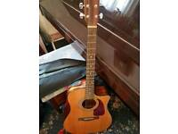 Fender acoustic/electric guitar and accessories.
