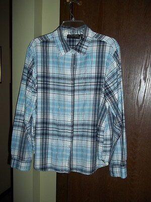 Light Blue Plaid Shirts (Citicraze plaid light blue, white, and navy shirt with Silver threads )