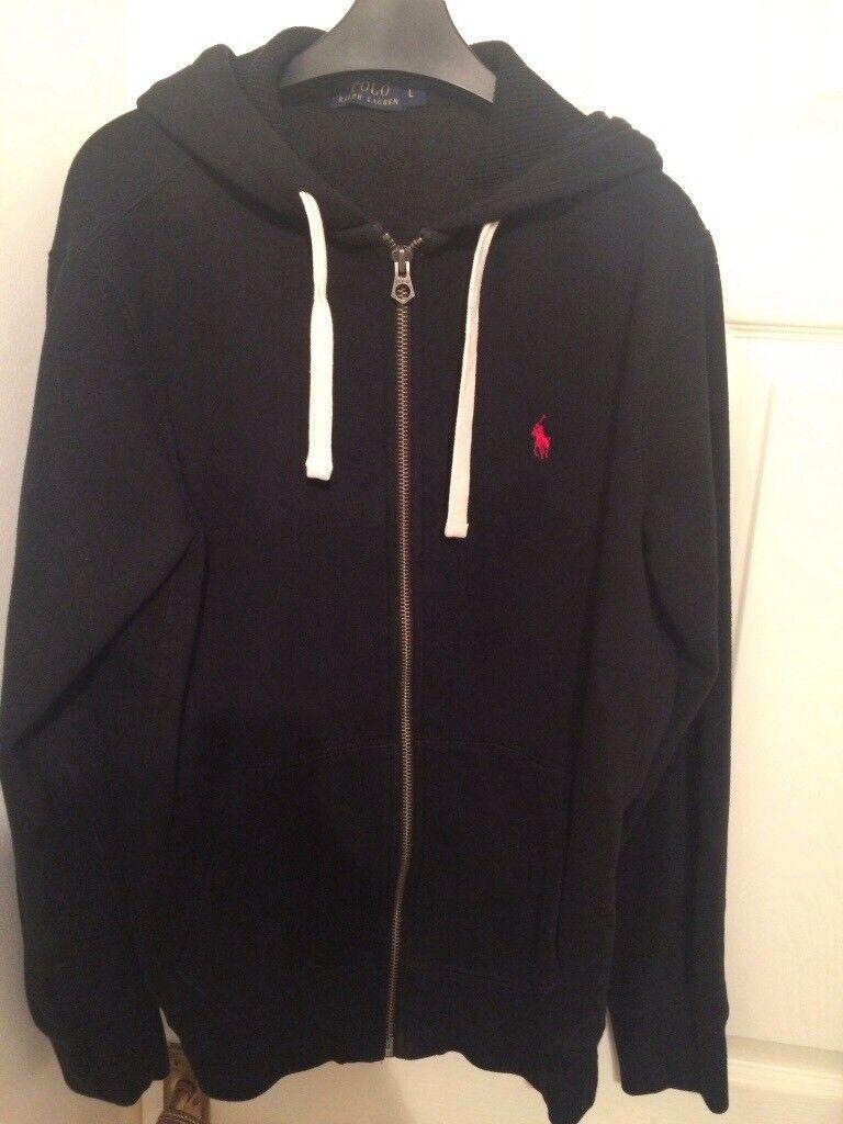Men's Ralph Lauren hoodie size large zip front in cruise navy