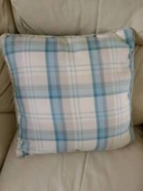 3 Dunhelm Balmoral duck egg cushions