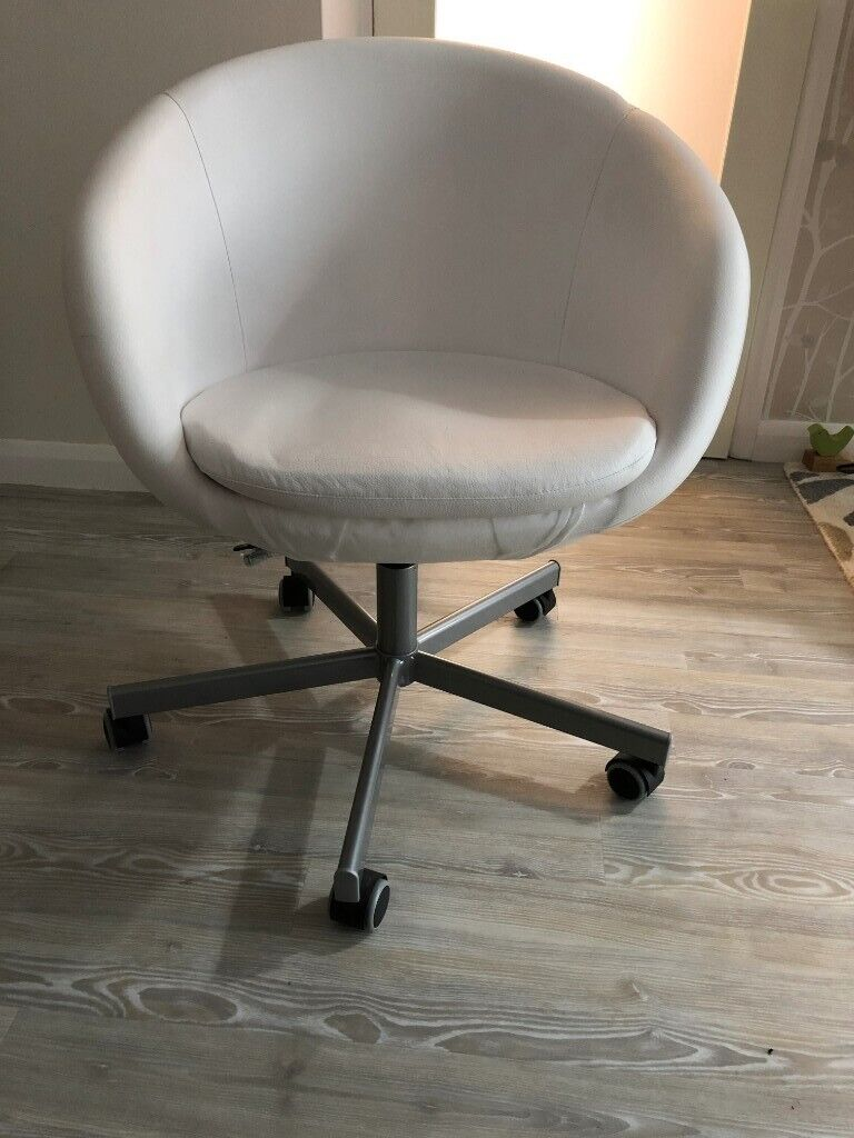 Prime Ikea Skruvsta Stylish Swivel Chair For Lounge White Seat Chrome Base Black Wheels In Poole Dorset Gumtree Pabps2019 Chair Design Images Pabps2019Com