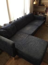 Ikea Karlstad 3 seater sofa with chaise