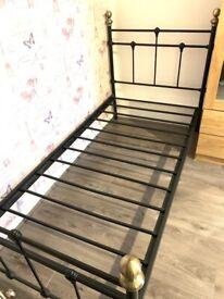 Victorian black bed frame- Single