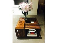 Wooden Apple Crate Coffee Table (handmade)