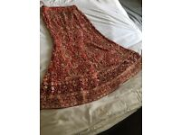 Asian red wedding lengha size 8-10