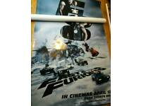 The Fast and The Furious 8 set of 4 large cinema banners
