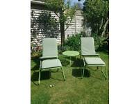 Garden set. 2 chairs and table.