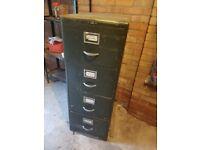 Dark green metal filing cabinet for sale