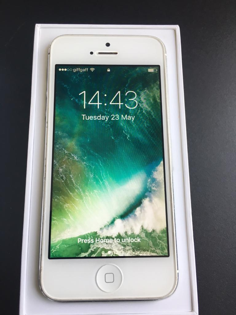 iPhone 5 16gb on 02Giffgaffin Newcastle, Tyne and WearGumtree - IPhone 5 white and sliver 16gb comes with its original box. Will take 02 or giffgaff SIM card.Wiped ready for next user.May be able to deliver if not to far from Newcastle/Gateshead