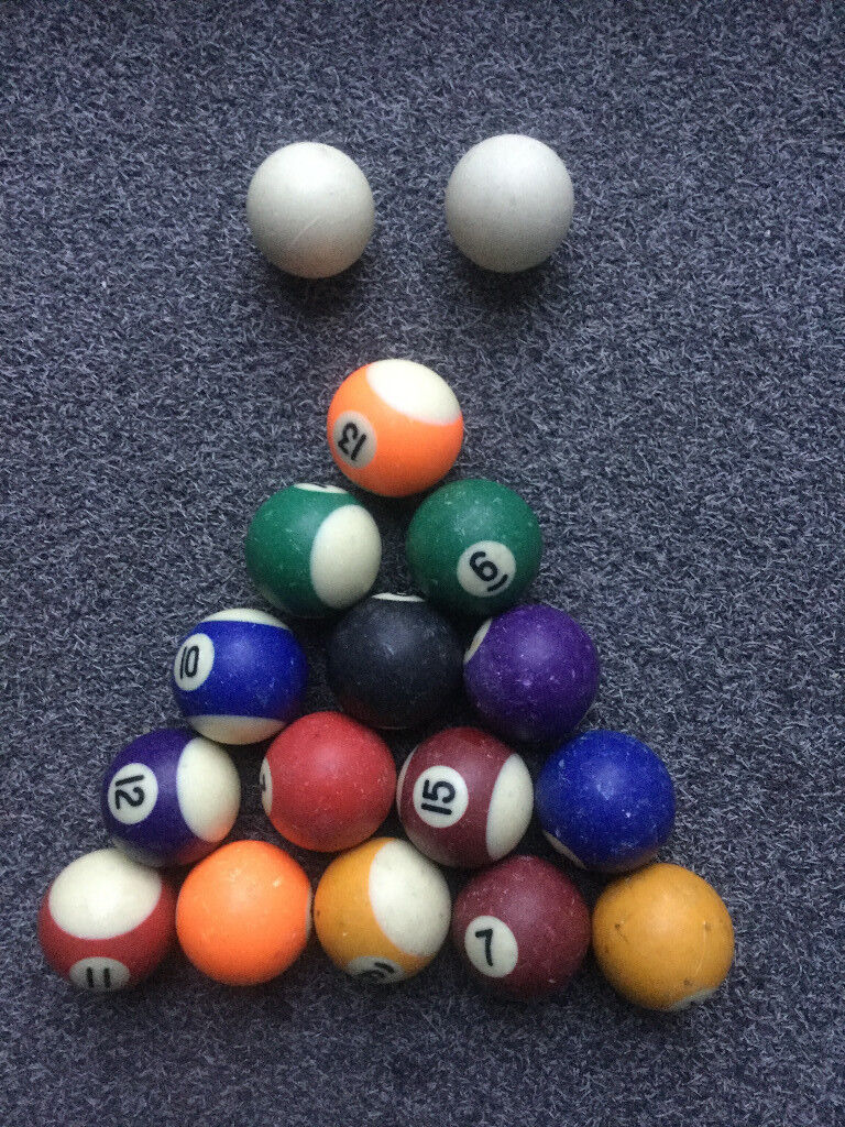 Set Of Inch Pool Balls In Sheffield South Yorkshire Gumtree - 7 inch pool table