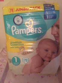 Pampers brand new sealed size 1