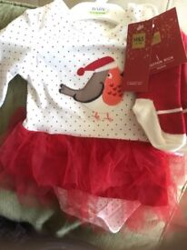 Brand new with tags M&S Christmas outfit 18-24 months