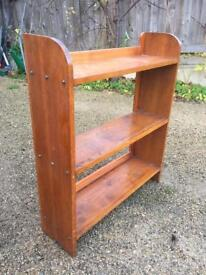 Lovely 1930's solid pine wall mounted book shelve