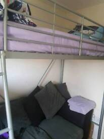 metal highsleeper bed