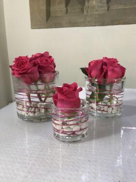 Glaser Vasen Dekoration Hochzeit Geburtstag Blumen Feste In