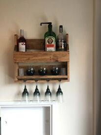 Handmade pallet wine rack